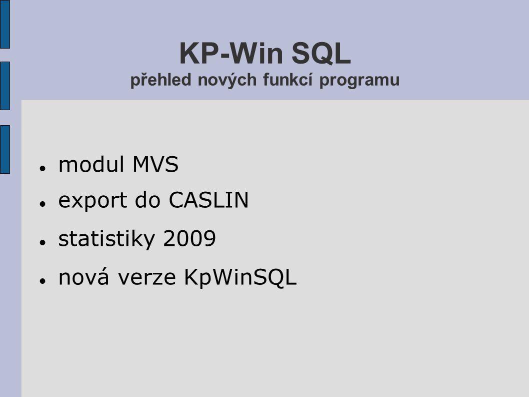 Modul MVS Správa spolupracujících knihoven Sledování zpracování jednotlivých MVS Rozlišení aktivní a pasivní MVS Napojení na výpůjční systém knihovny Zdroj statistických dat pro Deník veřejné knihovny Automatizovaná komunikace s knihovnami Objednávky MVS přes WWW