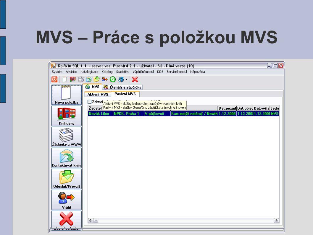 MVS – Statistiky