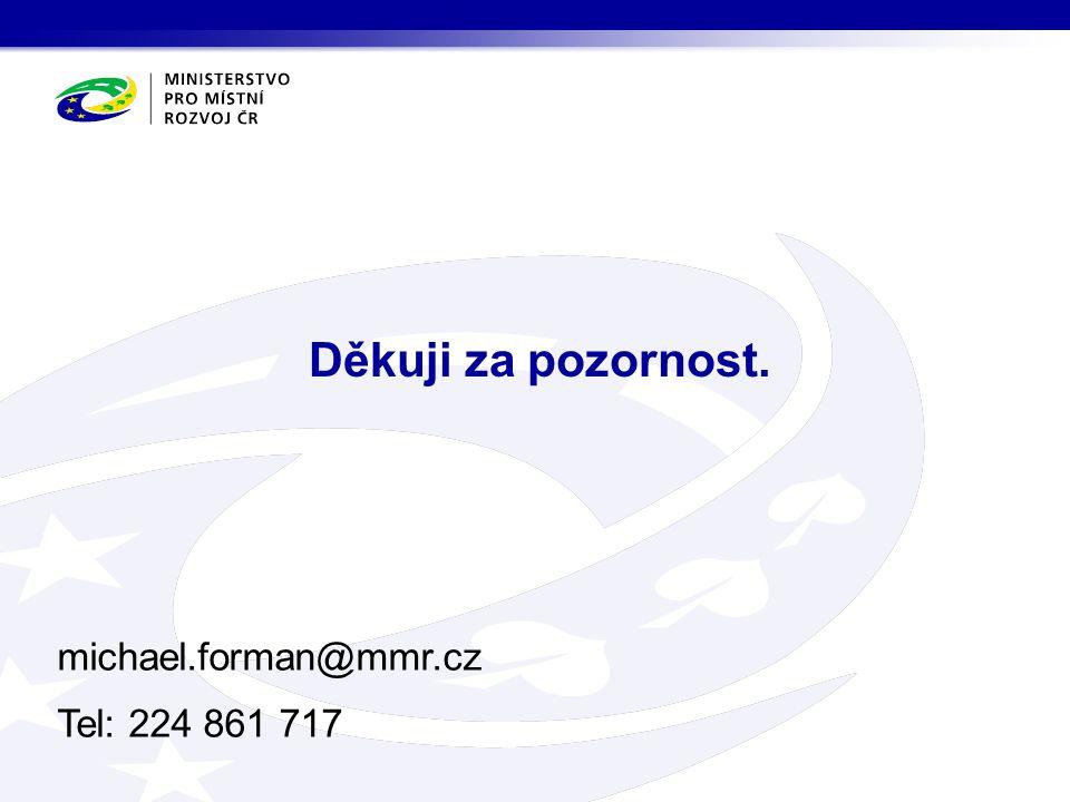 michael.forman@mmr.cz Tel: 224 861 717 Děkuji za pozornost.