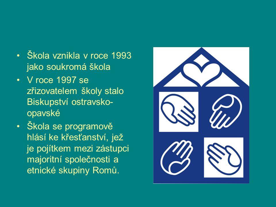 Škola vznikla v roce 1993 jako soukromá škola V roce 1997 se zřizovatelem školy stalo Biskupství ostravsko- opavské Škola se programově hlásí ke křesť