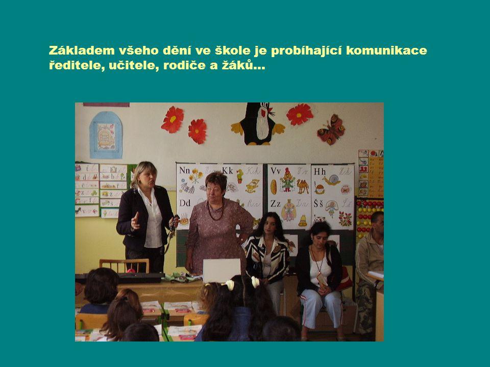 Výuka angličtiny v jazykové učebně… Základem všeho dění ve škole je probíhající komunikace ředitele, učitele, rodiče a žáků…