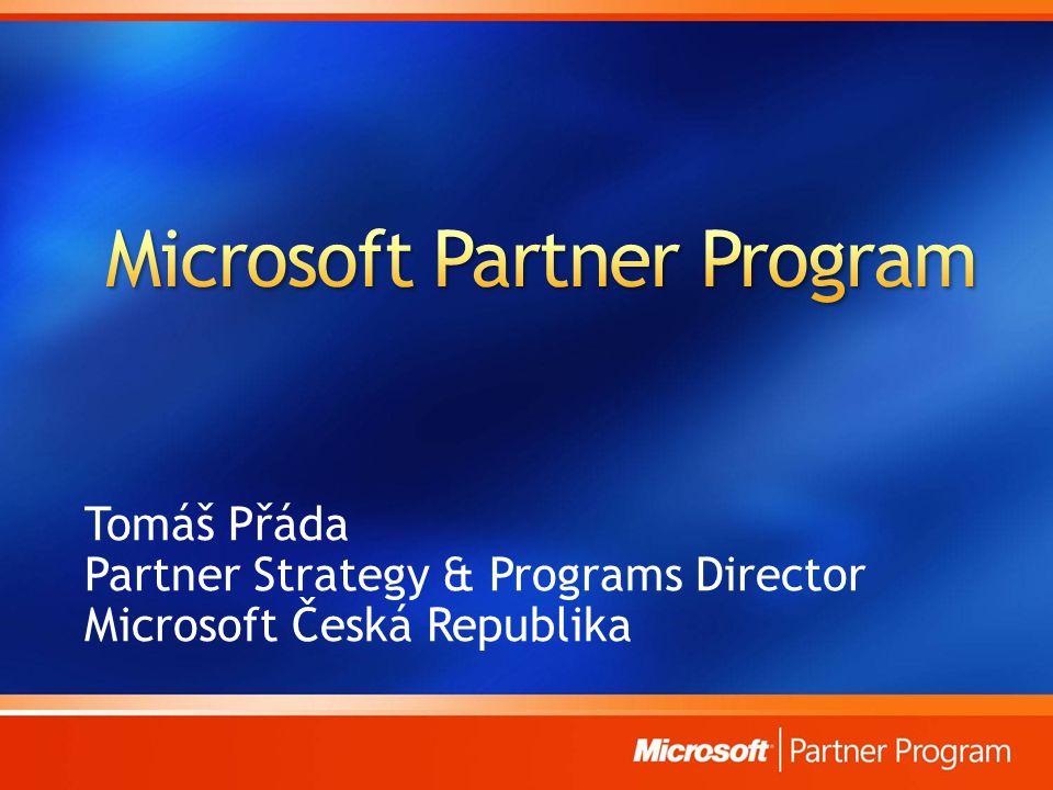 Tomáš Přáda Partner Strategy & Programs Director Microsoft Česká Republika