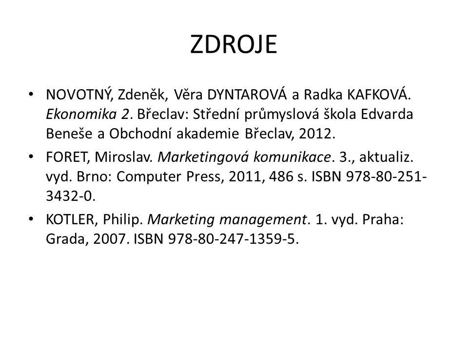 ZDROJE NOVOTNÝ, Zdeněk, Věra DYNTAROVÁ a Radka KAFKOVÁ.