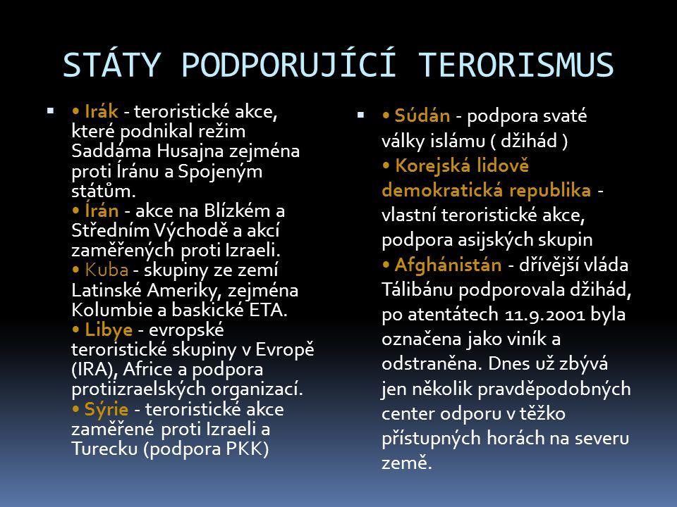 MEZINÁRODNÍ SPOLUPRÁCE BOJE PROTI TERORISMU  Mezinárodní terorismus v posledních desetiletích dosáhl kvalitativního posunu ve vytváření mezinárodně propojených struktur.