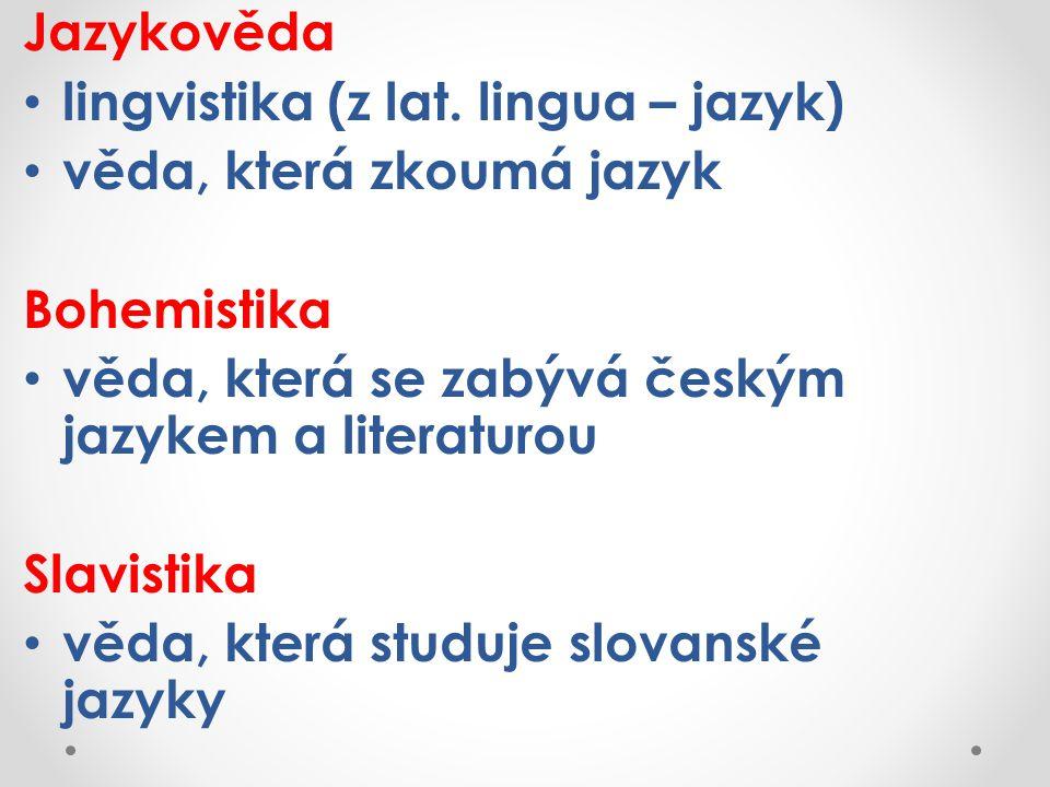 Jazykověda lingvistika (z lat.