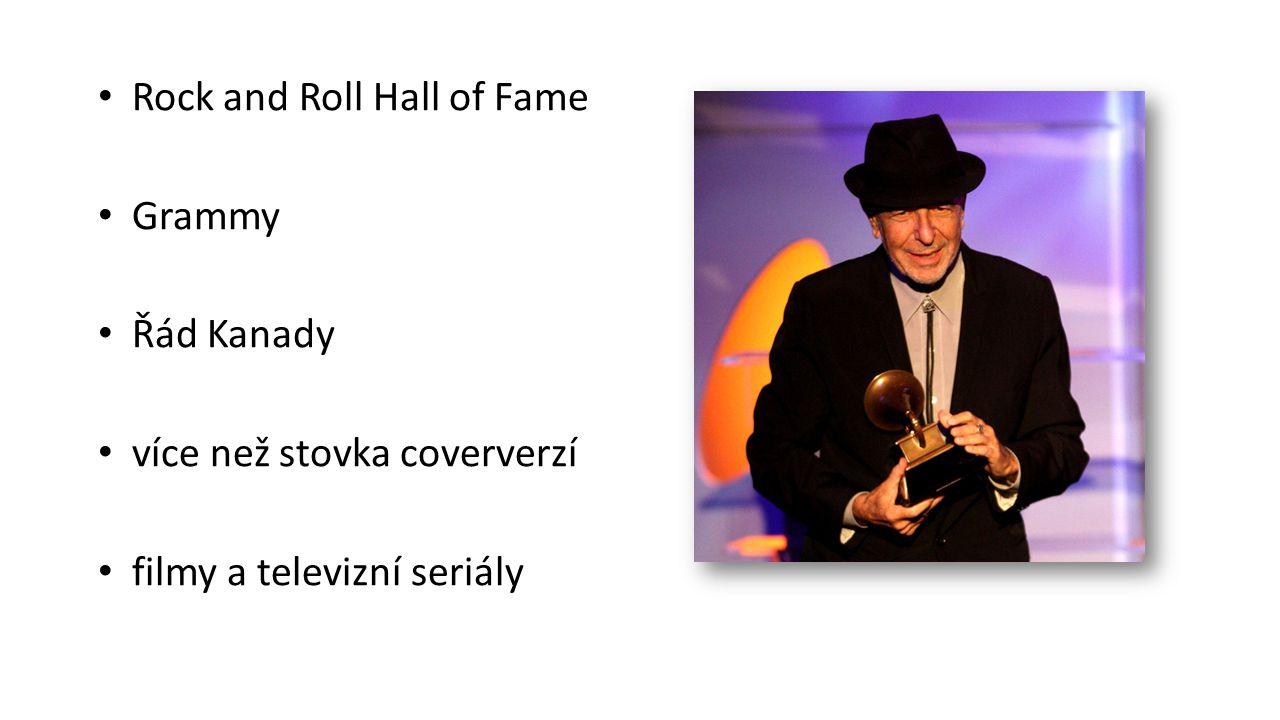 Rock and Roll Hall of Fame Grammy Řád Kanady více než stovka coververzí filmy a televizní seriály