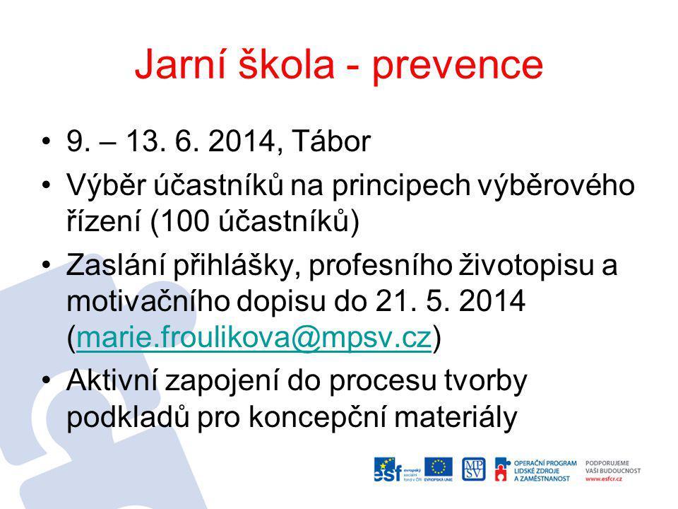Jarní škola - prevence 9.– 13. 6.