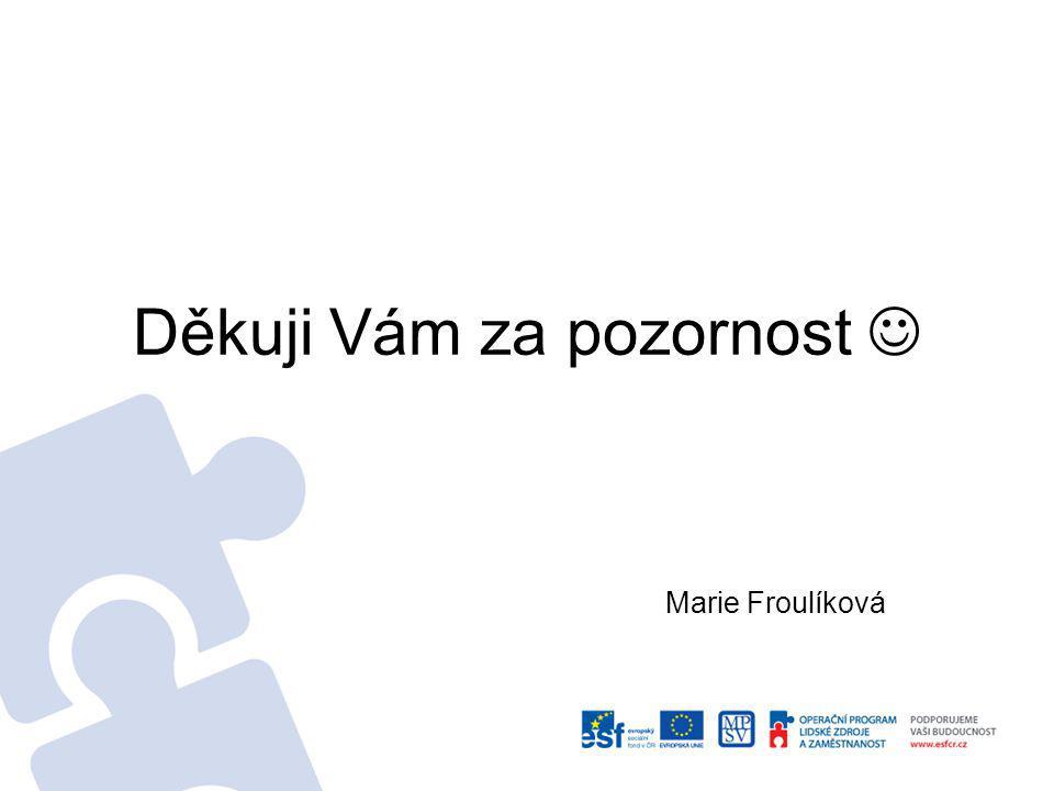 Děkuji Vám za pozornost Marie Froulíková