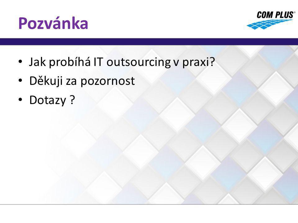 Pozvánka Jak probíhá IT outsourcing v praxi? Děkuji za pozornost Dotazy ?