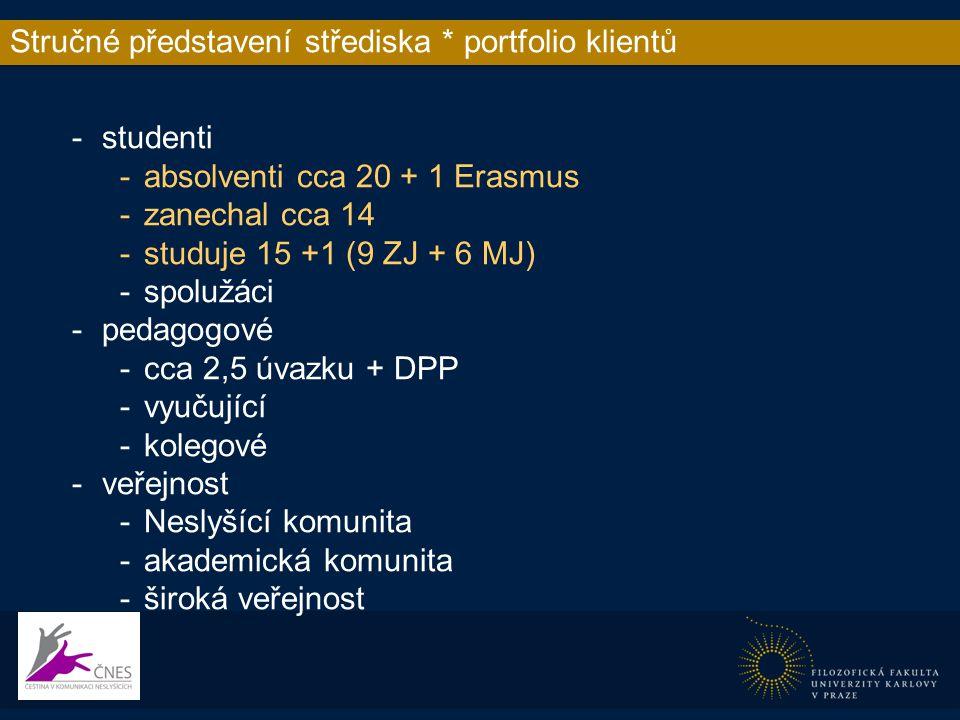Stručné představení střediska * Přístupnost informa http://ucjtk.ff.cuni.cz/cnes