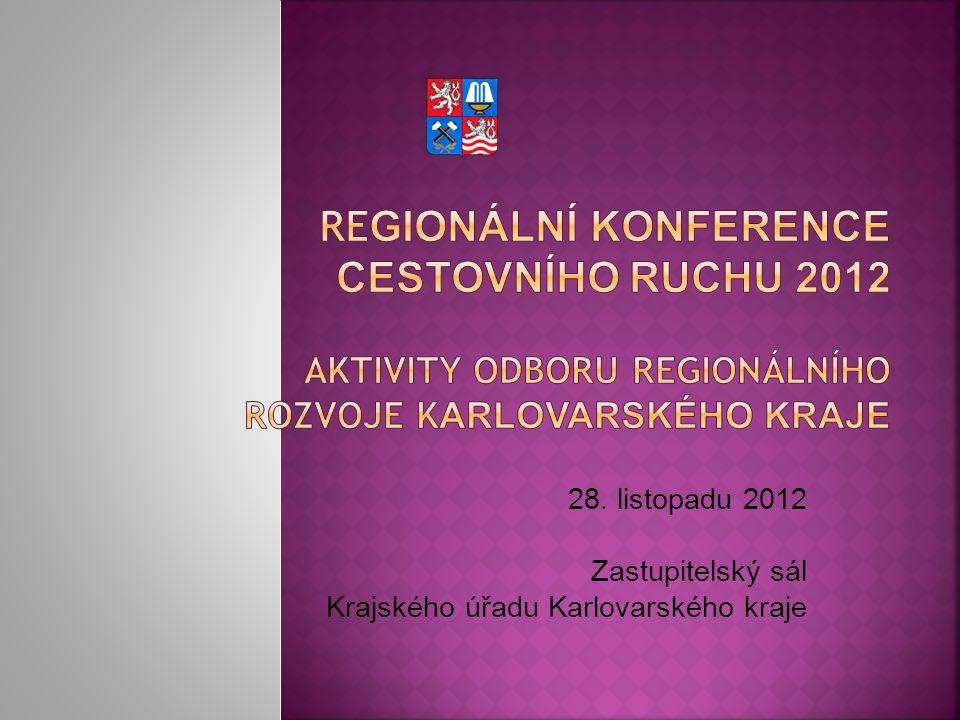 28. listopadu 2012 Zastupitelský sál Krajského úřadu Karlovarského kraje