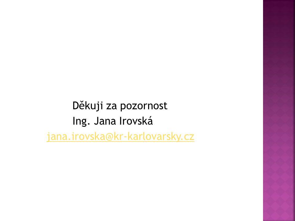 Děkuji za pozornost Ing. Jana Irovská jana.irovska@kr-karlovarsky.cz