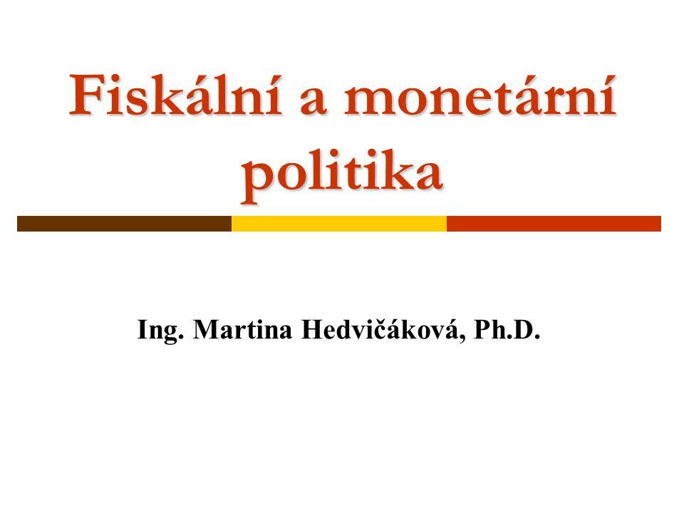 Fiskální a monetární politika Ing. Martina Hedvičáková, Ph.D.