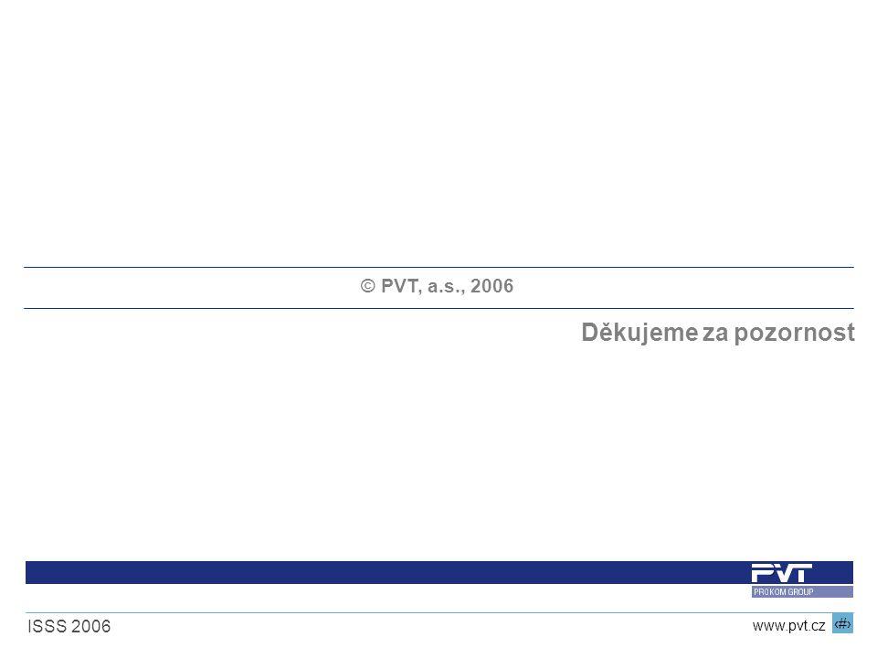 19 www.pvt.cz ISSS 2006 © PVT, a.s., 2006 Děkujeme za pozornost