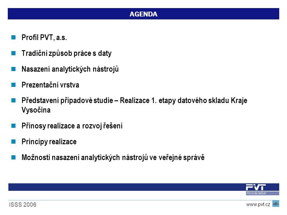 2 www.pvt.cz ISSS 2006 AGENDA Profil PVT, a.s.