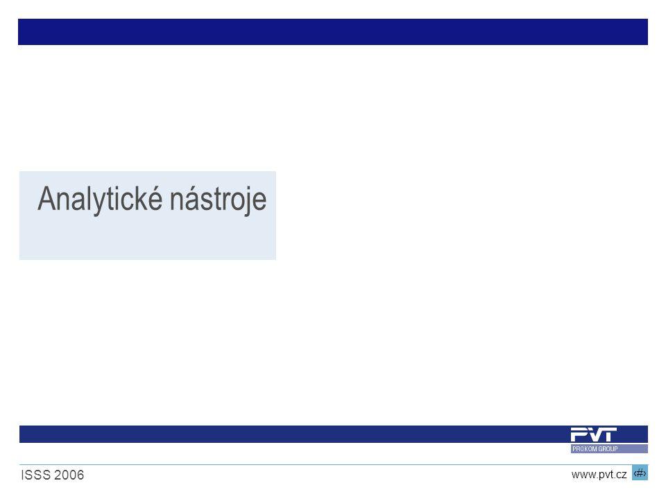 6 www.pvt.cz ISSS 2006 Analytické nástroje