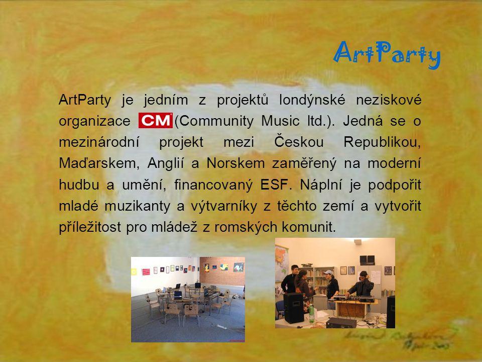ArtParty ArtParty je jedním z projektů londýnské neziskové organizace (Community Music ltd.).