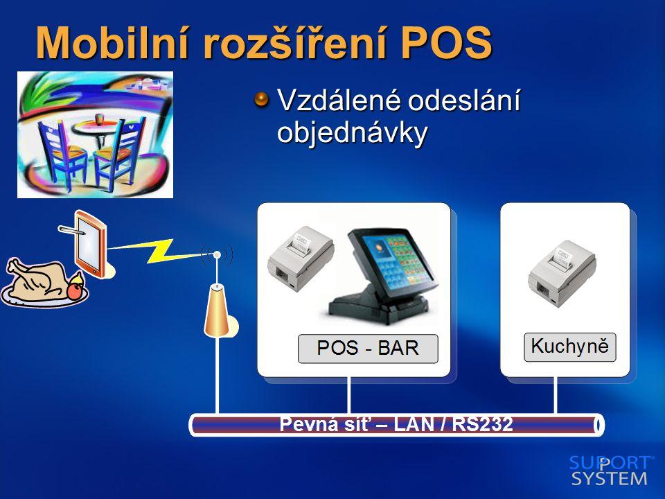 Mobilní rozšíření POS Vzdálené odeslání objednávky