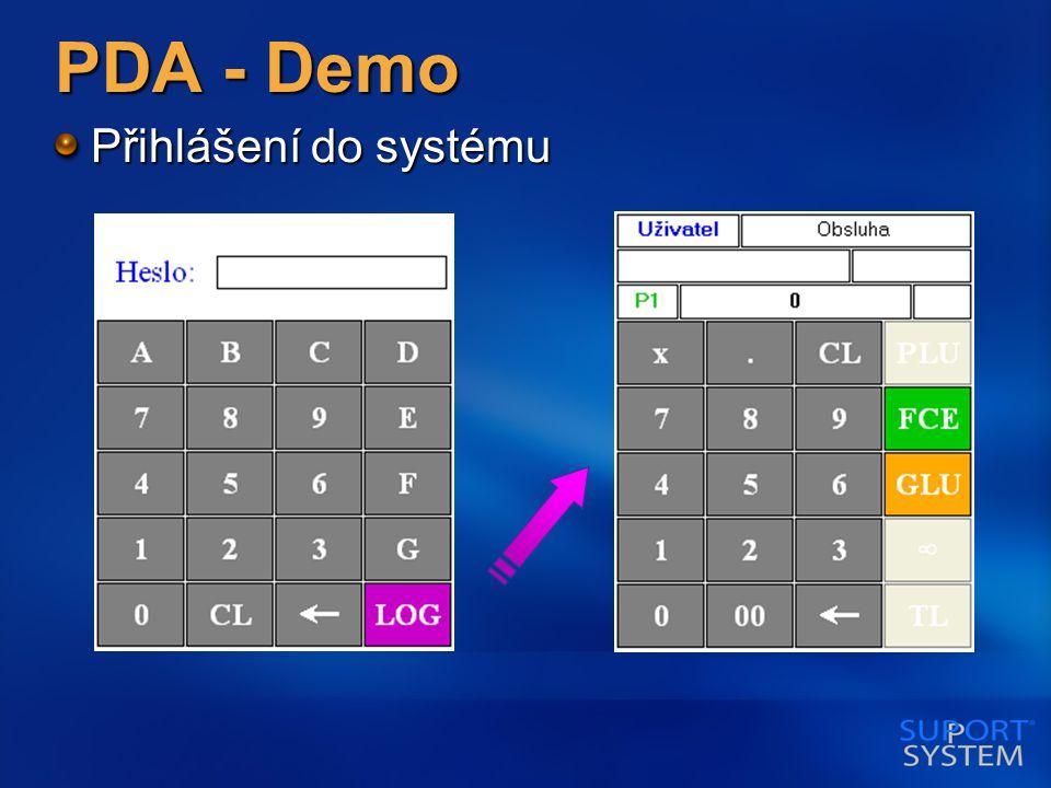 PDA - Demo Přihlášení do systému