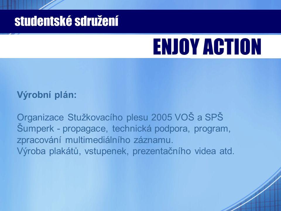 Výrobní plán: Organizace Stužkovacího plesu 2005 VOŠ a SPŠ Šumperk - propagace, technická podpora, program, zpracování multimediálního záznamu. Výroba
