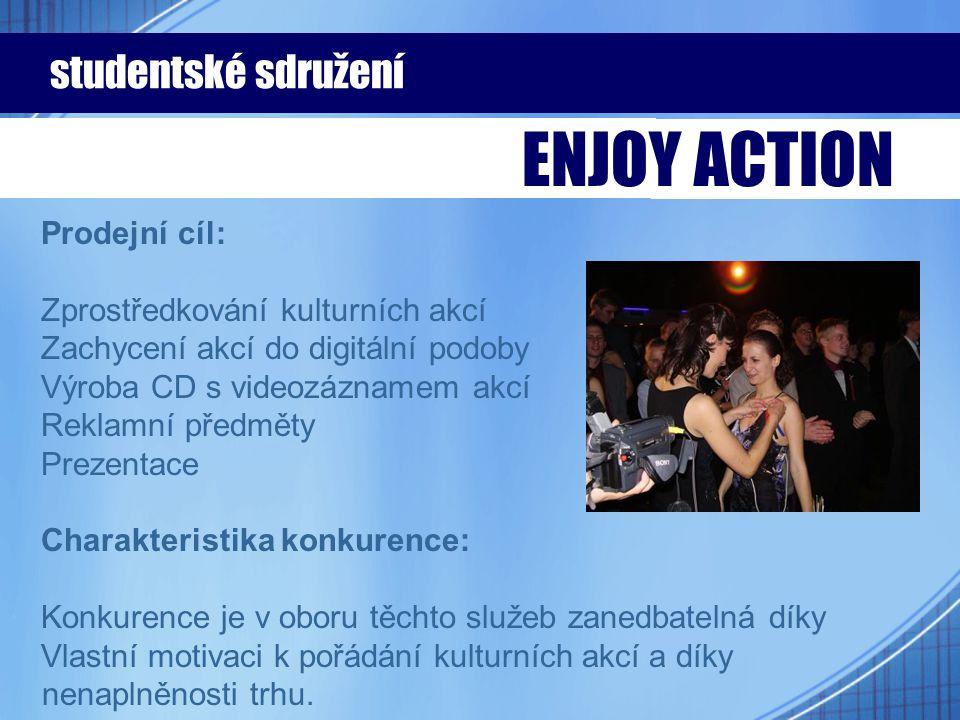 Prodejní cíl: Zprostředkování kulturních akcí Zachycení akcí do digitální podoby Výroba CD s videozáznamem akcí Reklamní předměty Prezentace Charakter
