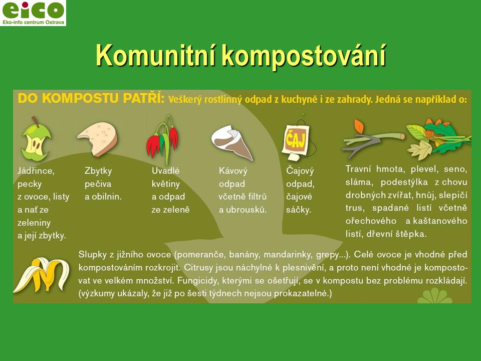 Žádost o podporu Úmob Poruba – nákup kompostéru Žádost o podporu Úmob Poruba – nákup kompostéru Spolupráce s MC Kaštánek – výběr zapojených osob, práce s kompostem Spolupráce s MC Kaštánek – výběr zapojených osob, práce s kompostem Využití – předzahrádky, truhlíky, květináče Využití – předzahrádky, truhlíky, květináče