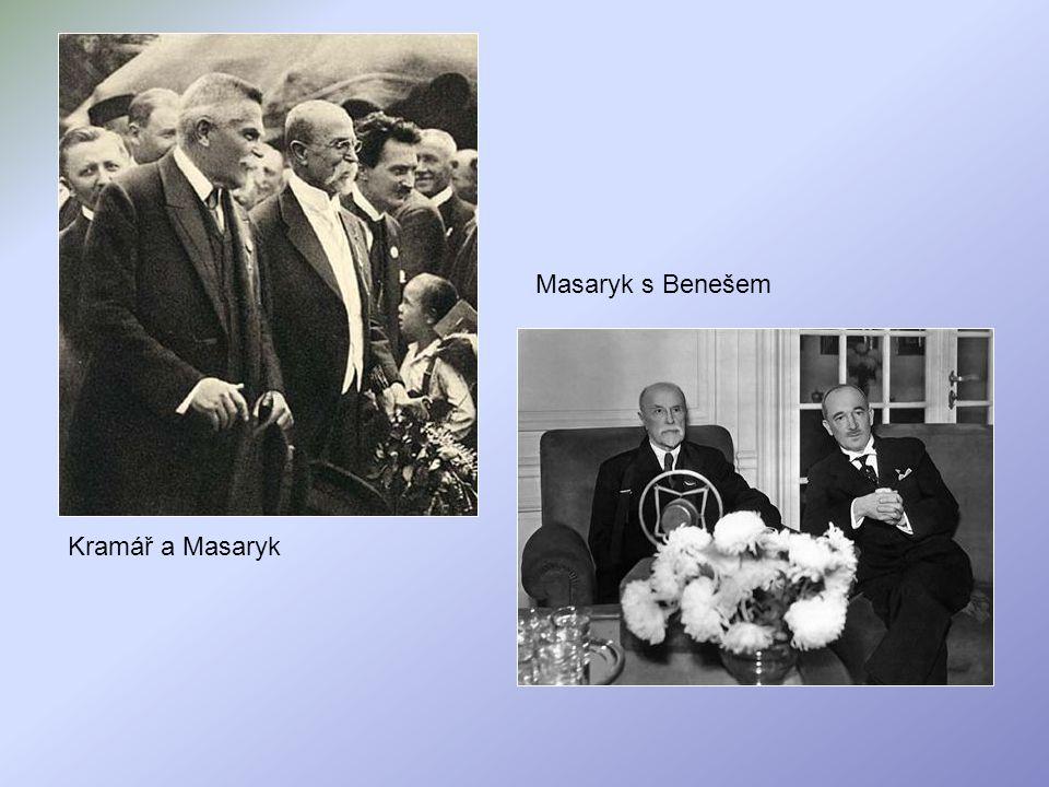 Kramář a Masaryk Masaryk s Benešem