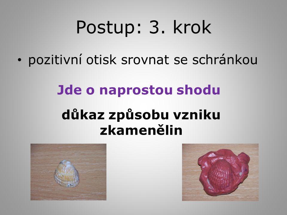 Postup: 3.