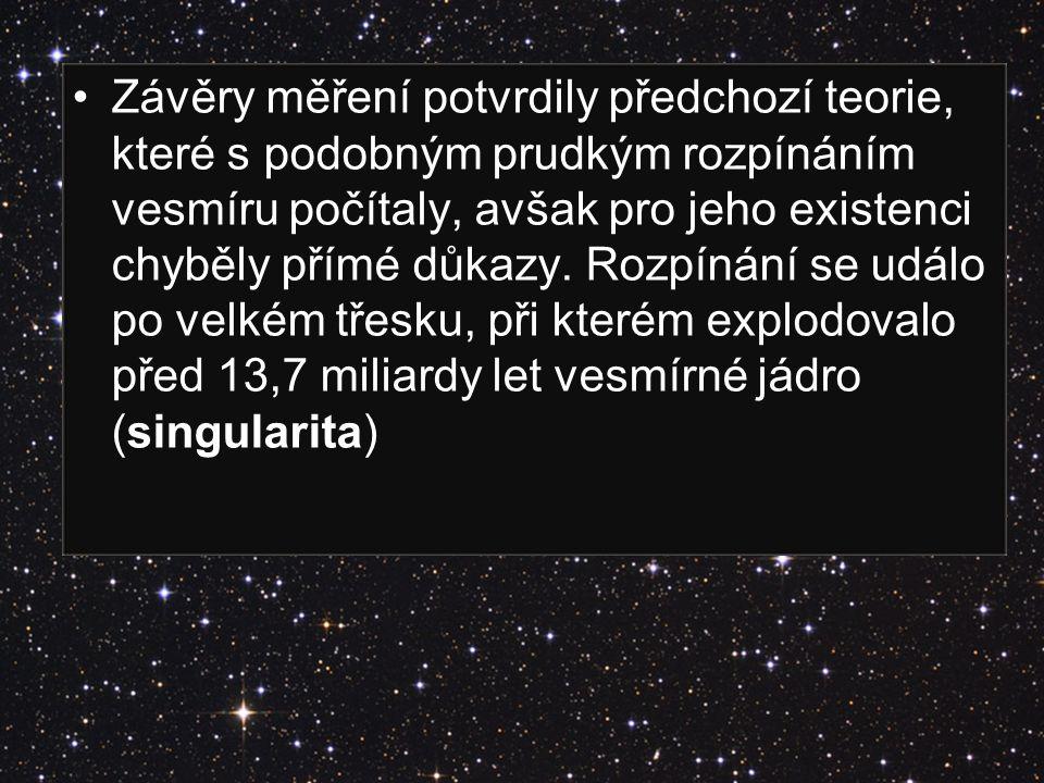 Závěry měření potvrdily předchozí teorie, které s podobným prudkým rozpínáním vesmíru počítaly, avšak pro jeho existenci chyběly přímé důkazy. Rozpíná