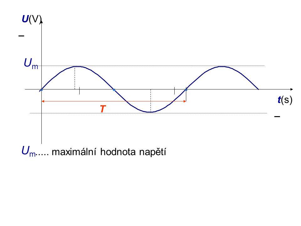 vztah mezi T, f jednotka frekvence1 Hz (hertz) =  při měření střídavého proudu a napětí užíváme přepneme měřidlo na měření ~  při měření naměříme tzv.