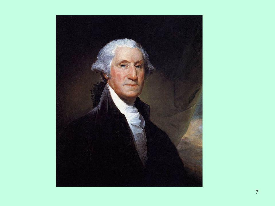 8 další střetnutí britské armády s osadníky dobrovolníci z Evropy 17771781 1783roku 1777 vítězství osadníků u Saratogy, roku 1781 vítězství u Yorktownu – kapitulace britské armády – konec války, mír v Paříži roku 1783 jednání o ústavě, velmi obecná formulace ústavy 1789Ústava Konfederace amerických států George Washingtonroku 1789 vstupuje v platnost Ústava Konfederace amerických států, prezidentem George Washington