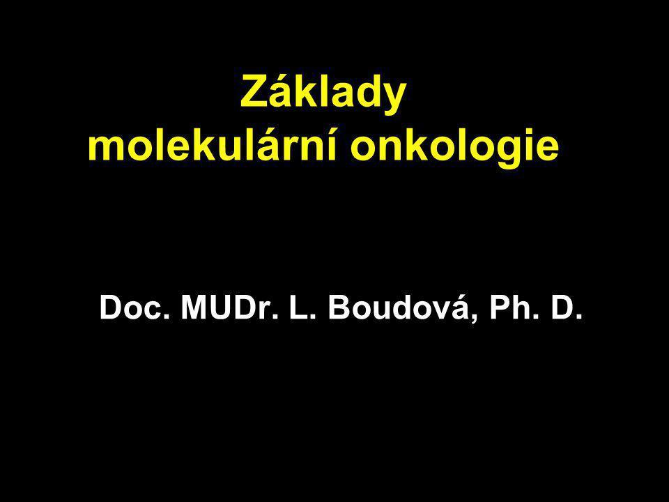 Základy molekulární onkologie Doc. MUDr. L. Boudová, Ph. D.