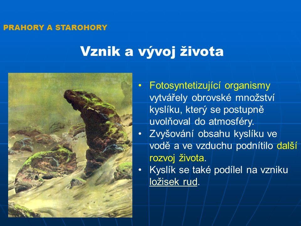 PRAHORY A STAROHORY Vznik a vývoj života Některé jednobuněčné organismy začaly časem vytvářet kolonie.