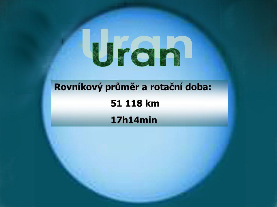 Rovníkový průměr a rotační doba: 51 118 km 17h14min