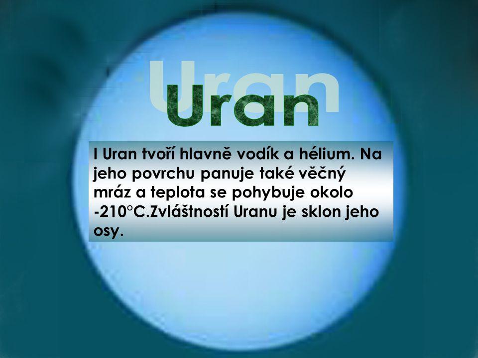 I Uran tvoří hlavně vodík a hélium.