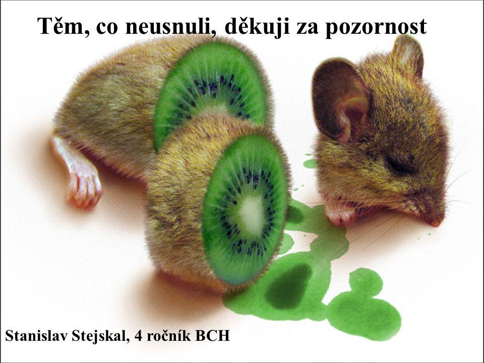 Těm, co neusnuli, děkuji za pozornost Stanislav Stejskal, 4 ročník BCH