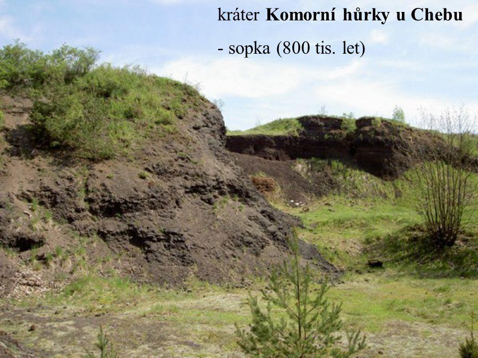 kráter Komorní hůrky u Chebu - sopka (800 tis. let)