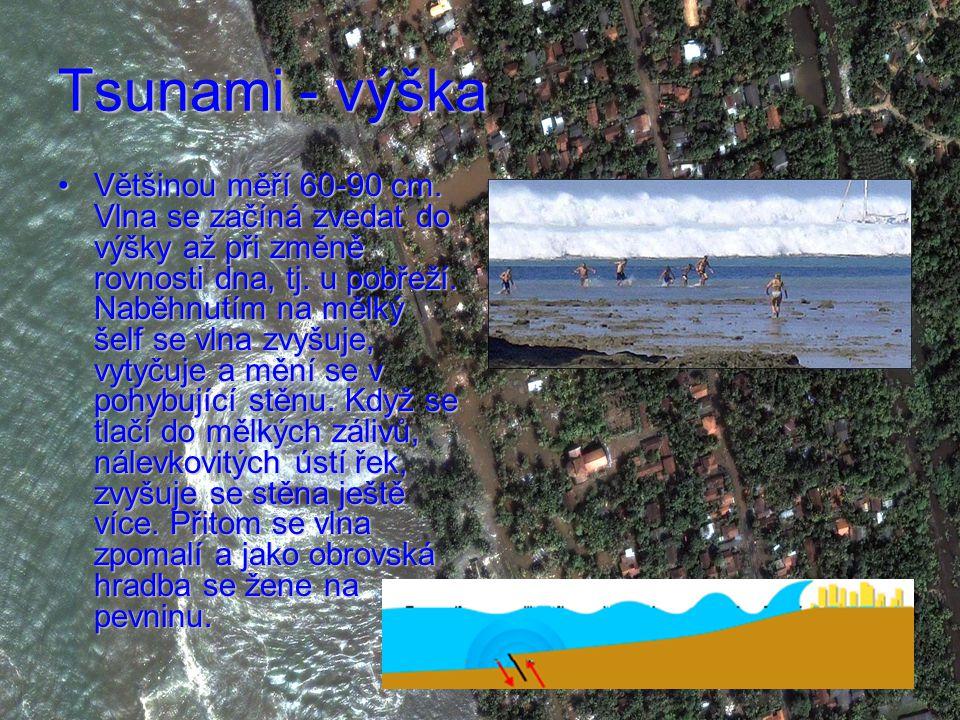 Tsunami - výška Většinou měří 60-90 cm.