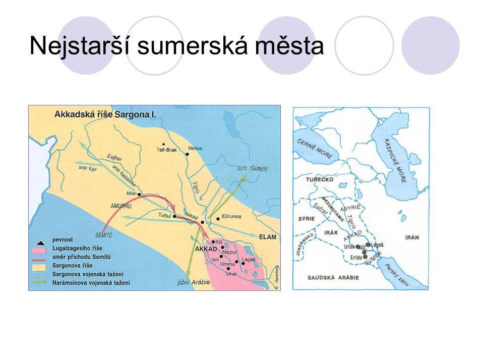 Nejstarší sumerská města