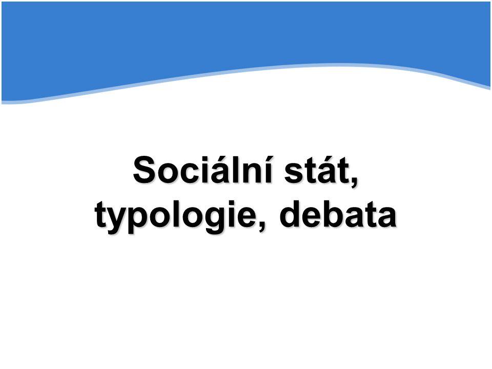 Sociální stát, typologie, debata
