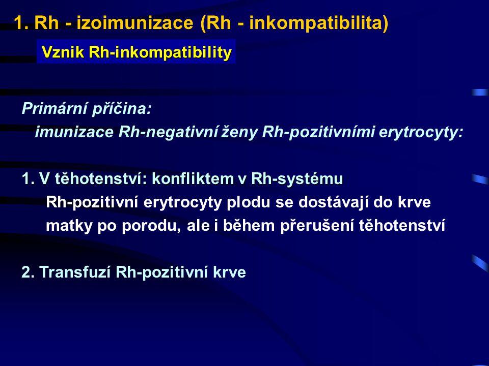 1.Rh - izoimunizace (Rh - inkompatibilita) Prevence Rh-izoimunizace 4.