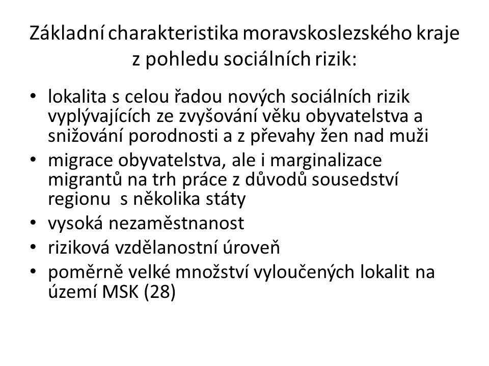 Lokality s nejvyšším výskytem trestné činnosti a nezaměstnanosti Ostrava, Bruntál, Opava, Karviná