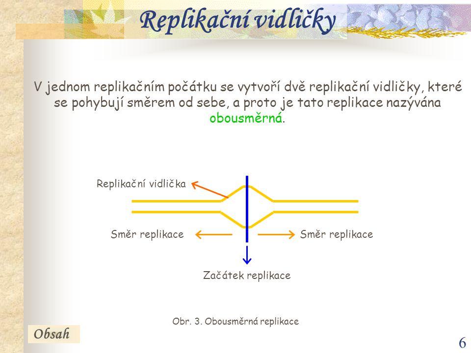 6 V jednom replikačním počátku se vytvoří dvě replikační vidličky, které se pohybují směrem od sebe, a proto je tato replikace nazývána obousměrná. Re