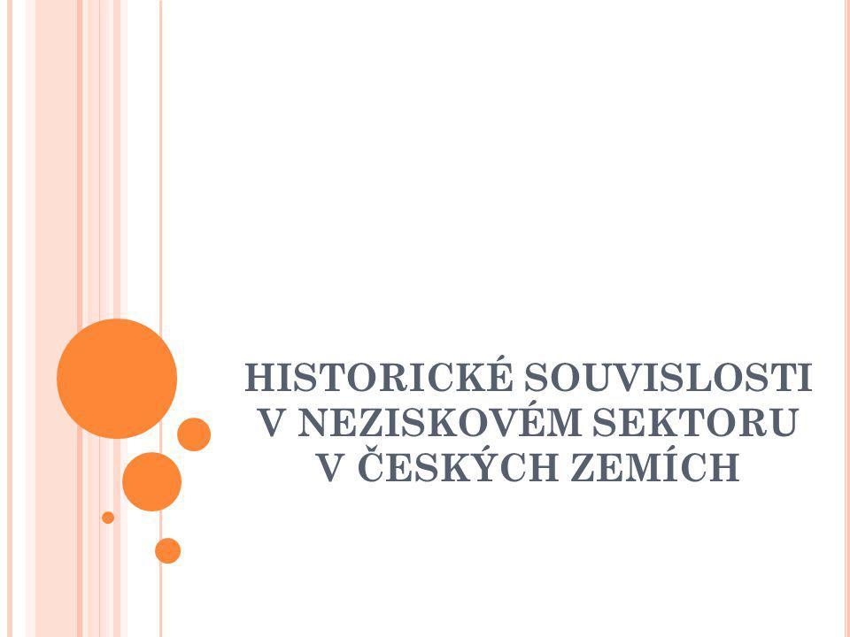 HISTORICKÉ SOUVISLOSTI V NEZISKOVÉM SEKTORU V ČESKÝCH ZEMÍCH