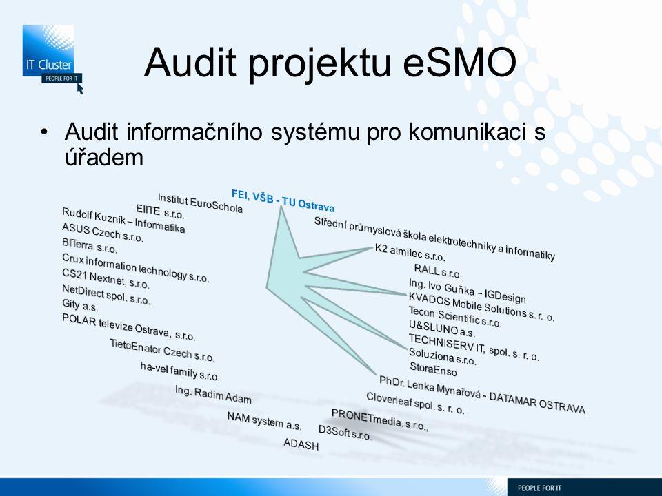 Audit projektu eSMO Audit informačního systému pro komunikaci s úřadem