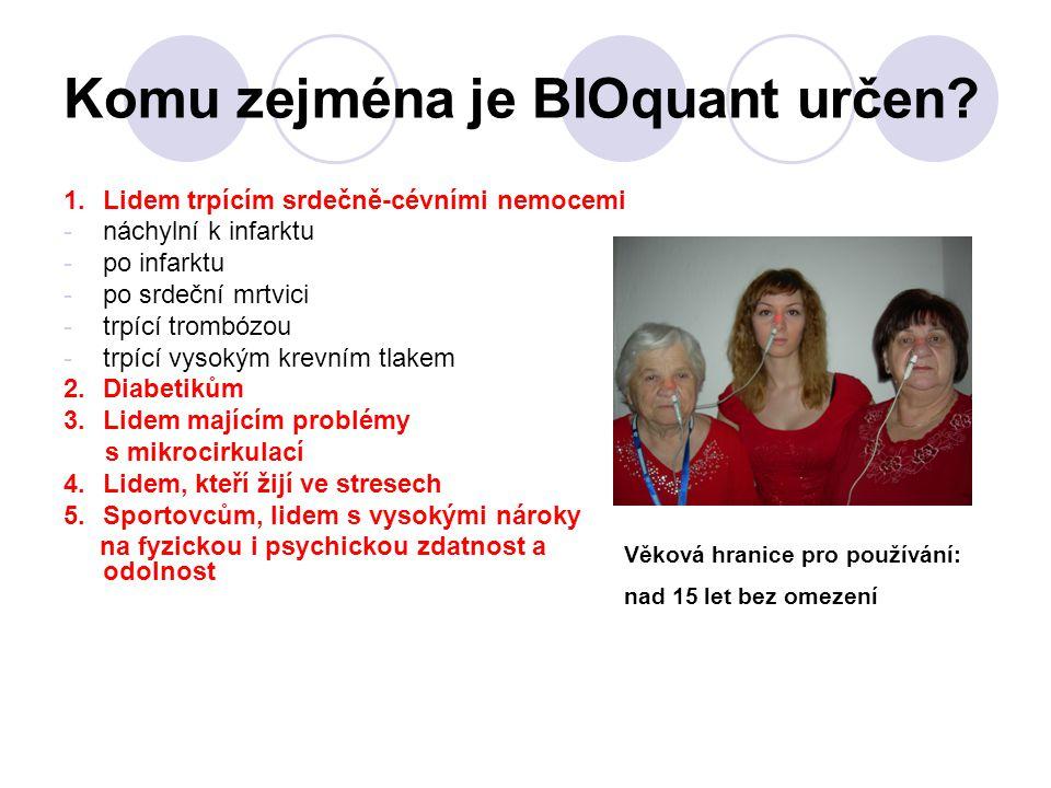 Komu zejména je BIOquant určen? 1. Lidem trpícím srdečně-cévními nemocemi -náchylní k infarktu -po infarktu -po srdeční mrtvici -trpící trombózou -trp