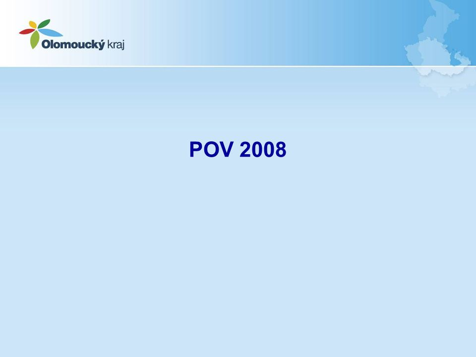 Východiska POV 2008 Odstranění překryvů s Programem obnovy venkova ČR, zejména s Osou III zaměřenou na venkovské projekty Zásadní změna podoby POV –Omezení širokého záběru dřívějšího DT 1 hlavně na komunikace a obecní úřady –Zrušena podpora územních plánů, obce mohly získat podporu z Integrovaného operačního programu –Zaměření mikroregionálních projektů na stmelování a volnočasové aktivity