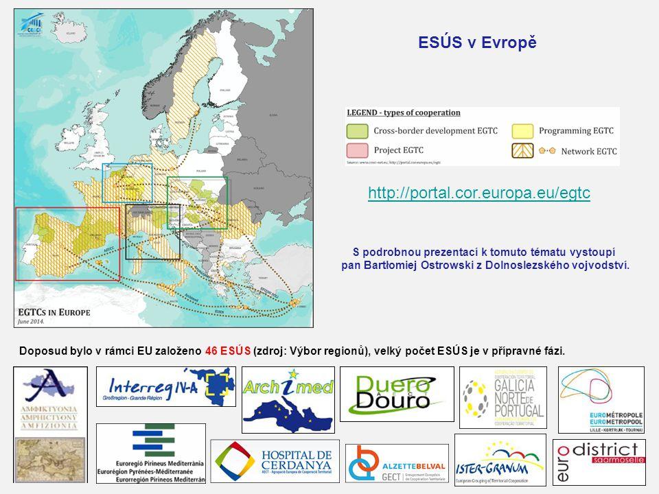 Doposud bylo v rámci EU založeno 46 ESÚS (zdroj: Výbor regionů), velký počet ESÚS je v přípravné fázi. http://portal.cor.europa.eu/egtc ESÚS v Evropě