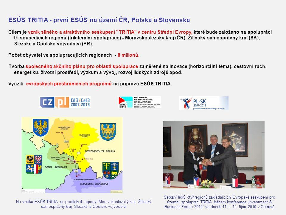 ESÚS TRITIA - první ESÚS na území ČR, Polska a Slovenska Cílem je vznik silného a atraktivního seskupení