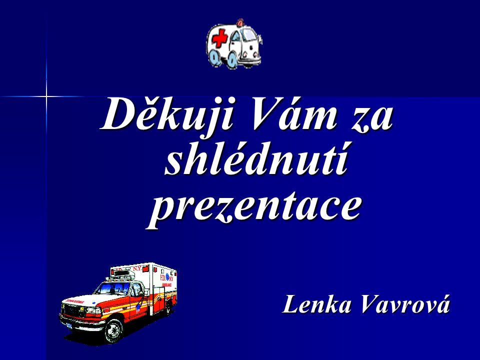 Děkuji Vám za shlédnutí prezentace Lenka Vavrová